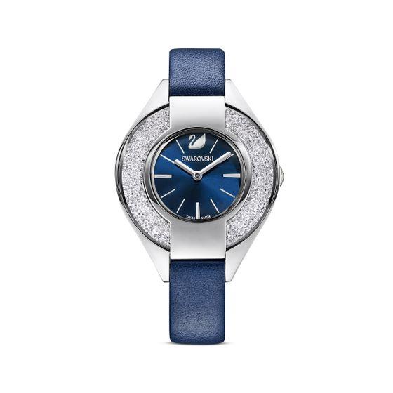 Relogio-Crystalline-Sporty-pulseira-de-cabedal-azul-aco-inoxidavel