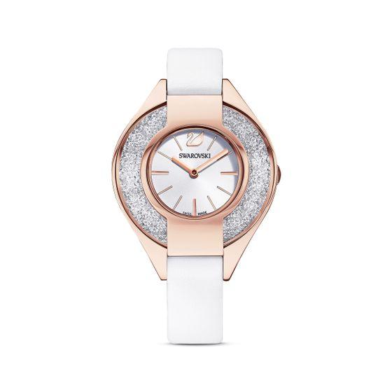 Relogio-Crystalline-Sporty-pulseira-de-cabedal-branco-PVD-em-tom-rosa-dourado