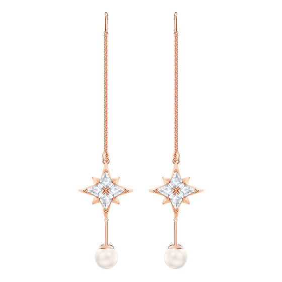 Brincos-Swarovski-Symbolic-branco-banhado-a-ouro-rosa